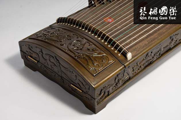 龙凤古筝-楠木汉纹