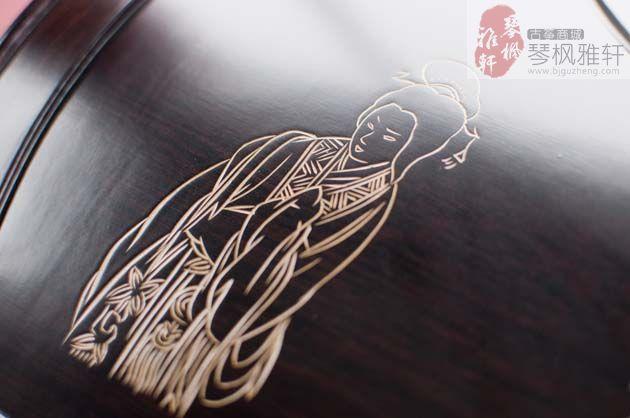 雅韵古筝-鸡翅木浅刻(秋月)